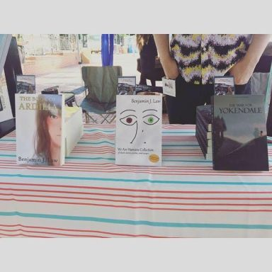 My table at the NW Book Fest.